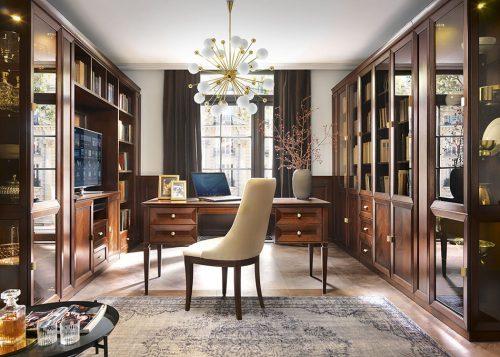 Рабочий кабинет-Библиотека